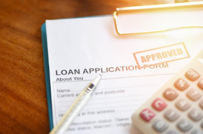 Close up of a Loan Application